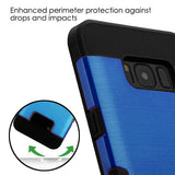 For Samsung Galaxy S8 Plus Dark Blue/Black Brushed TUFF Trooper Protector Cover