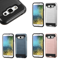 For Samsung Galaxy E5 Brushed Hybrid Impact Armor Protector Cover Case