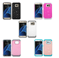 Bling Rhinestone Impact/Silicone Protector Case for Samsung Galaxy S7 Edge
