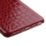 For iPhone 6s/6 Red Crocodile Skin Executive Back Armor Protector Case Cover