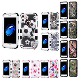 For iPhone 7 TUFF Hybrid Shockproof Armor Phone Impact Protector Case Cover