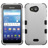 For Kyocera Wave C6740 Gray/Black Hybrid TUFF Hard Protective Cover Case