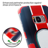 For Samsung Galaxy S8 UnionJack Skull/Red TUFF Hybrid Phone Protector Cover Case
