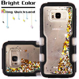 For Samsung Galaxy S8 Plus Black Meteor Shower Liquid Glitter Protector Cover