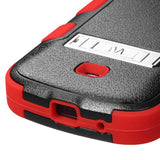 For Galaxy Galaxy Black/Red Rugged TUFF Impact Cover Case +Built-In Stand