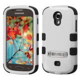 For Galaxy Galaxy Gray/Black Rugged TUFF Impact Cover Case +Built-In Stand