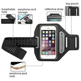Black Vertical Pouch Sports Arm Band w/ Card Slot Phone Holder Mobile Device