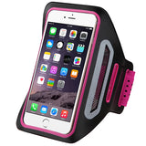 Pink/Black Vertical Pouch Sports Arm Band w/ Card Slot Holder Mobile Device