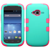 Teal Mint Green/Hot Pink-Rubberized Finish
