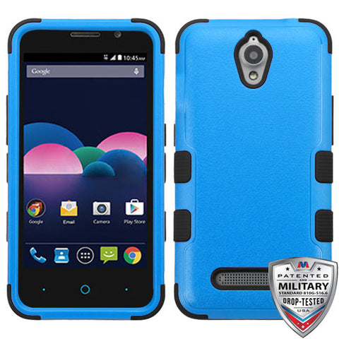 26f49857 For ZTE Obsidian Natural Dark Blue/Black TUFF Hybrid Phone Protector ...