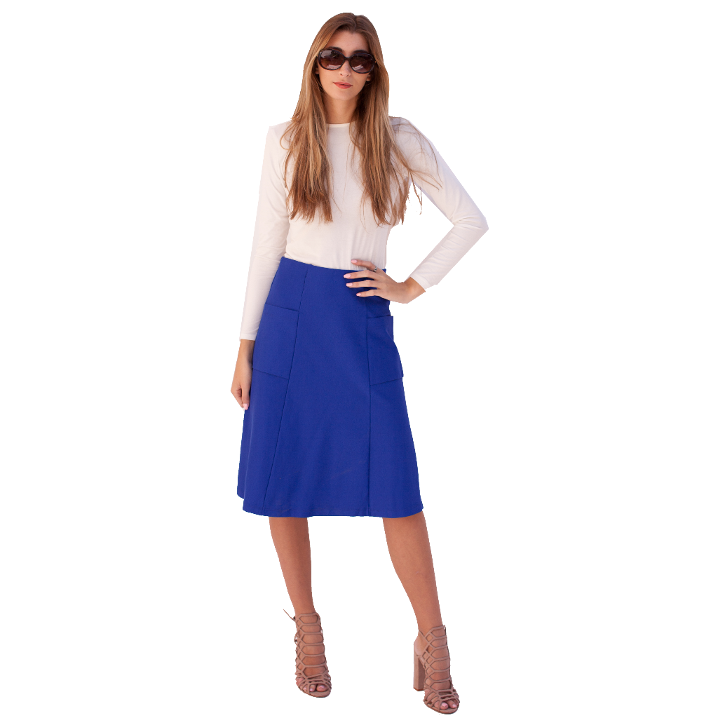 Pocket Ponte Skirt 23""