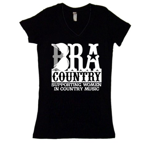 Bra Country Black Women's T-Shirt