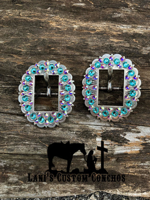 Light Turquoise & Crystal AB Buckle
