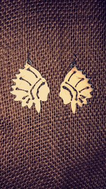 Cream Headdress Earrings