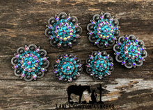 Light Turquoise & Crystal AB Round