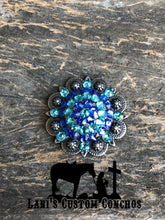 Sapphire & Light Turquoise Round