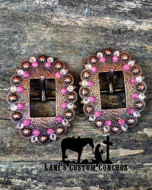 Pink Stone Copper Buckle
