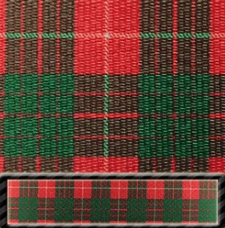 Red Tartan Latigo & Off Billet Set