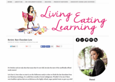 Living, Eating, Learning Reviews Raw Chocolate Love