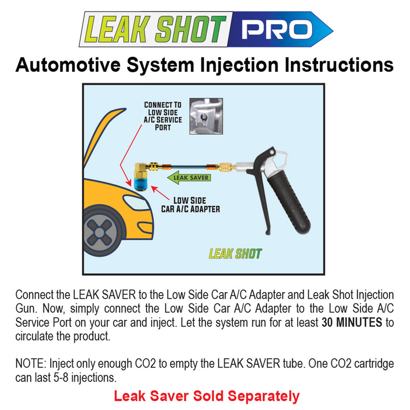 Leak Shot HVAC PRO - Injector and Drain Blaster