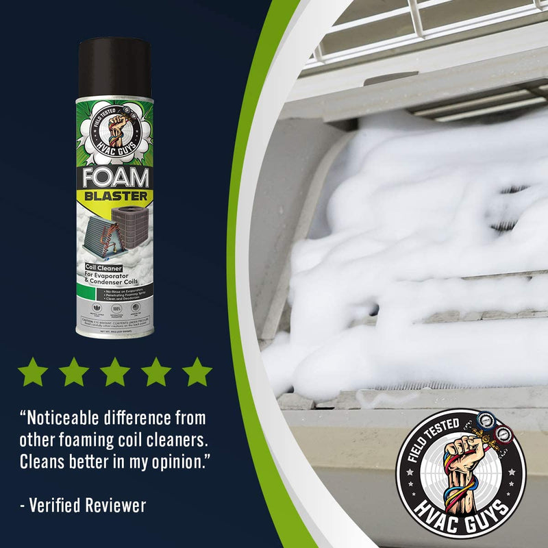 HVAC Guys Foam Blaster Refrigeration Air-Conditioning Evaporator Condenser Coil Cleaner Bulk Box Product Review