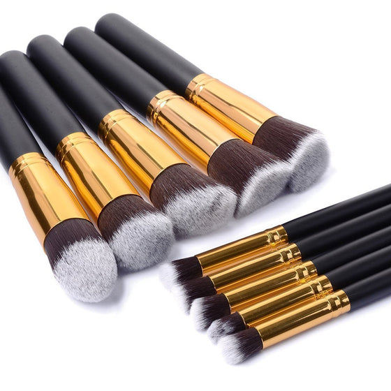 10pcs Cosmetic Makeup Brushes Set