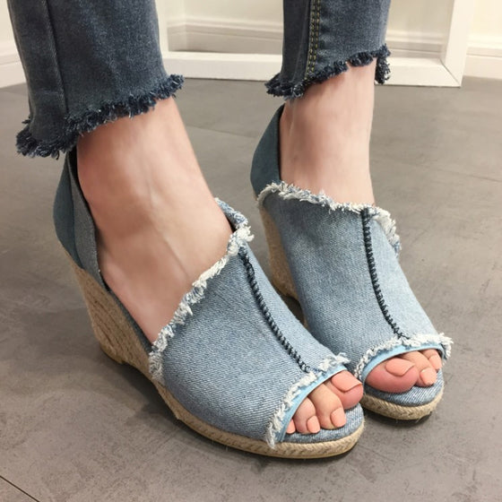 Mami's High Heel Jeans Sandals