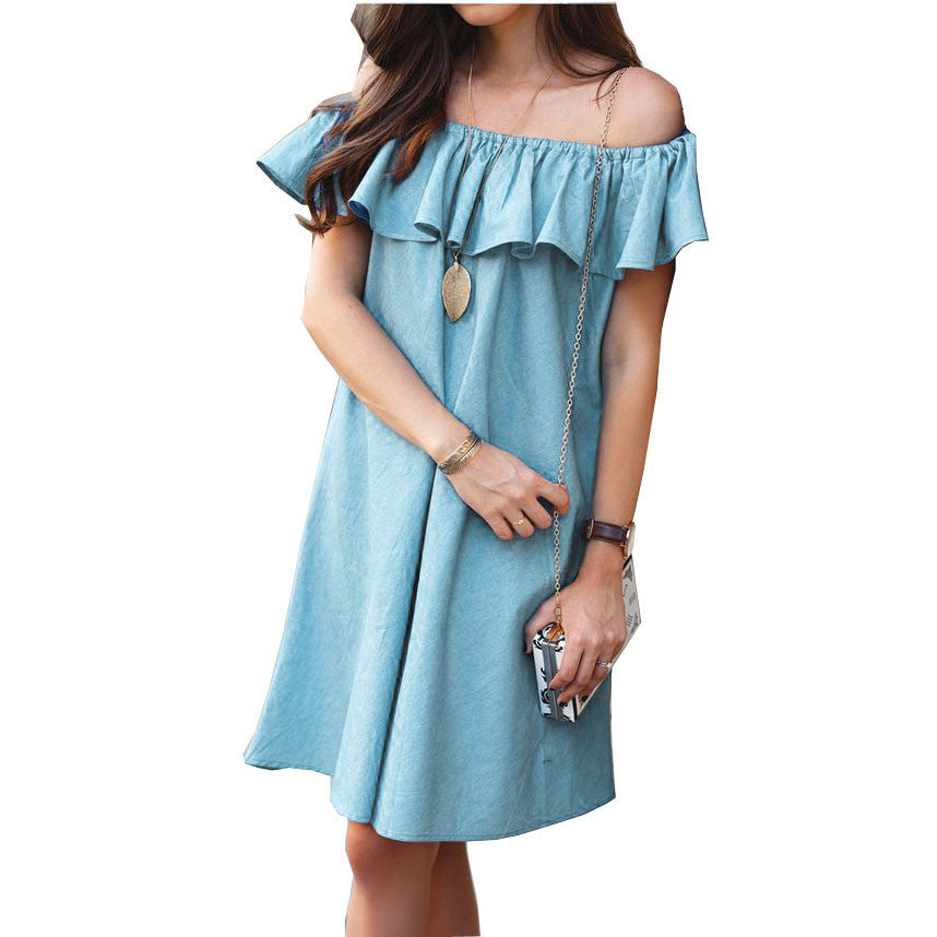 Off Shoulders Casual Mini Dress