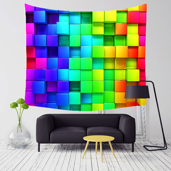 3D Blocks Tapestry