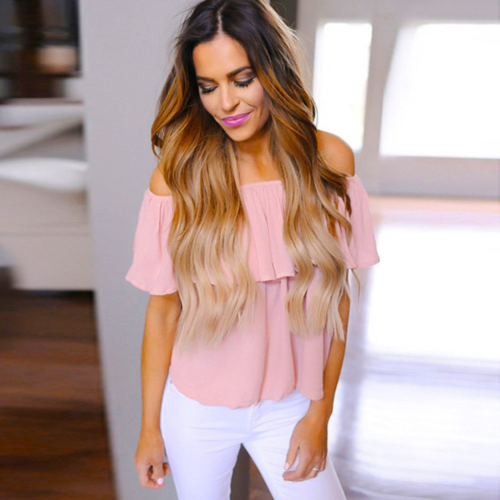 Solid Pink Blouse