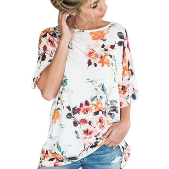 Chic Floral Summer Blouse