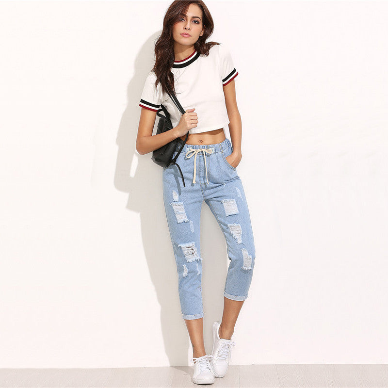 Girl On Trend Ripped Jeans
