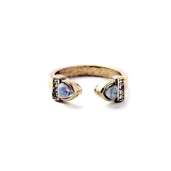 Crystal Lunette Ring