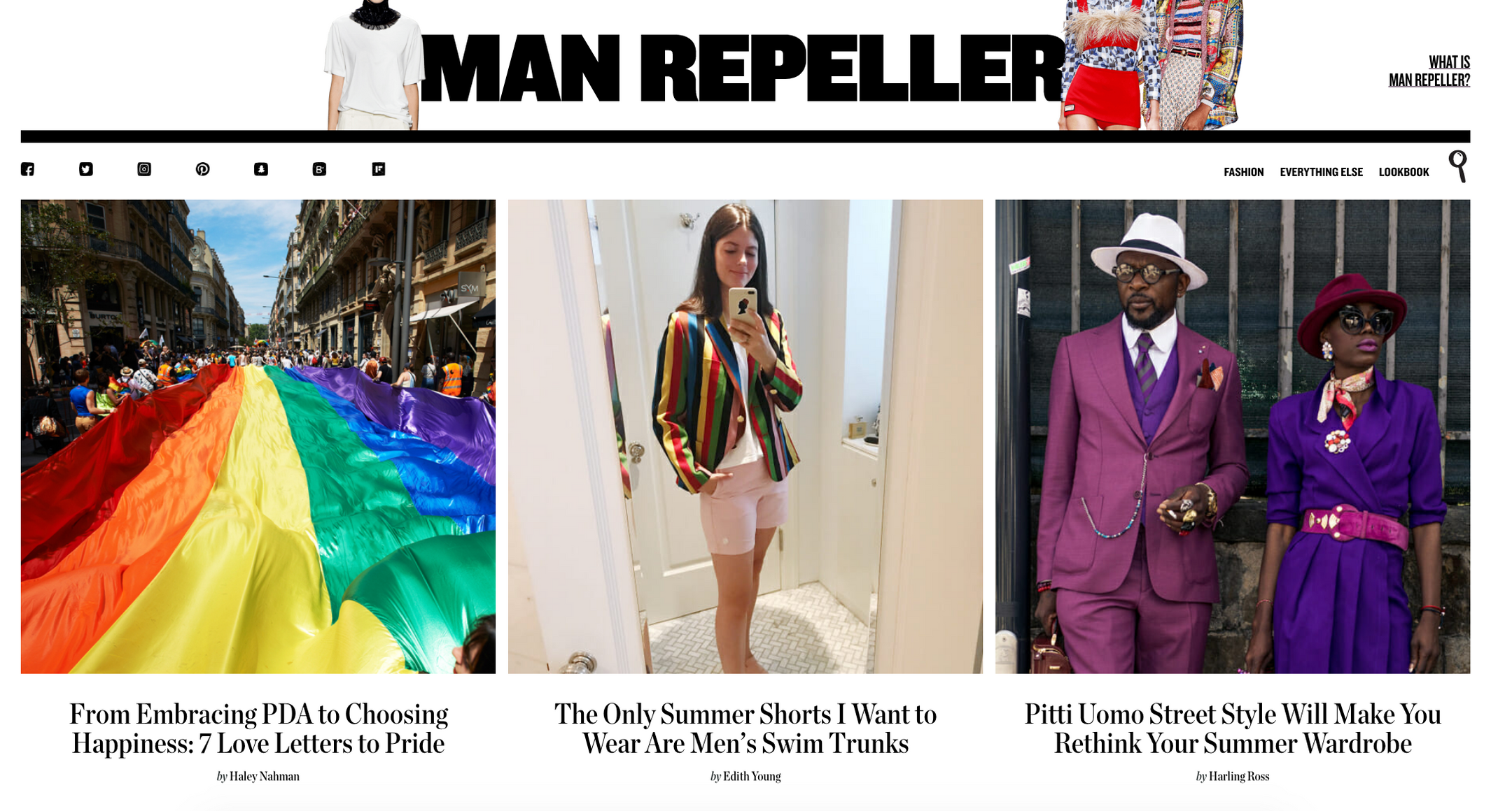 The Blazer and Trunks Look (Rowing Blazers featured on Man Repeller)