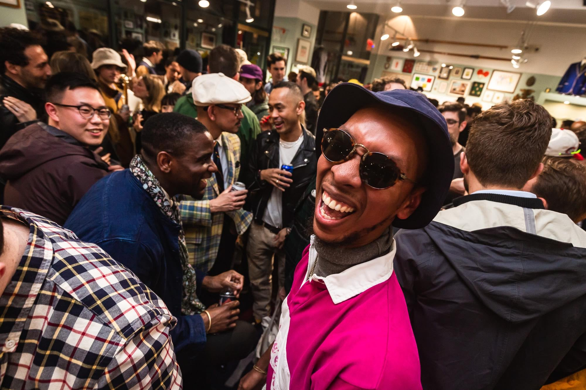 People partying at the Rowing Blazers Store on Grand Street