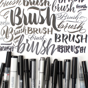 Brush Calligraphy Class + Kit Bundle