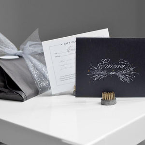 Hand-lettered Gift Dedication