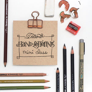 Hand-Lettering Foundations Mini Class
