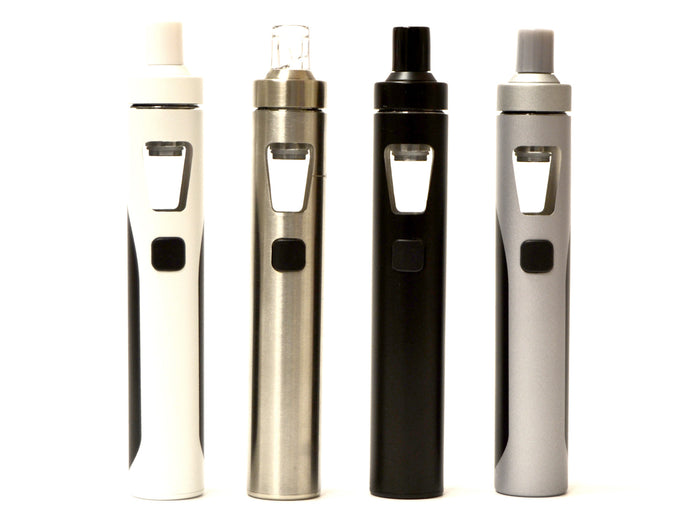 eGo AIO kit by Joyetech. All in one vape kit. Comes in black, stainless steel, grey and white.