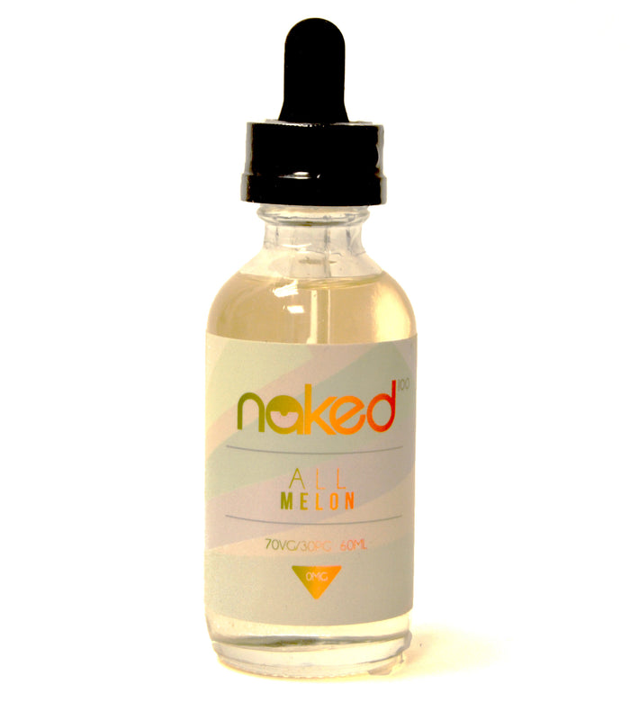 Click to shop Naked 100 E liquid All Melon a delicious blend of melon flavors. Offered in 100ml and up to 6mg in nicotine.
