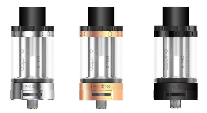 Shop Cleito 120 sub ohm tank by Aspire. Available in stainless steel, black and rose gold. These tanks require powerful mods & give huge amounts of vapor.