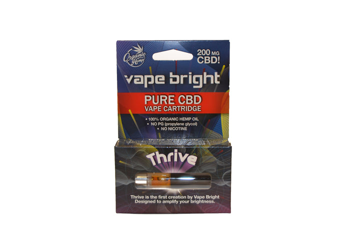 Thrive Clearomizer by Vape Bright | Disposable | 200mg CBD