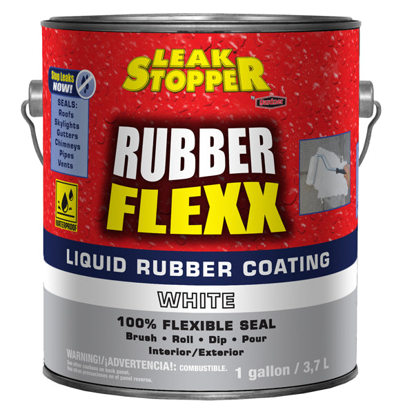 Leak Stopper 174 Rubber Flexx Liquid Rubber Coating White