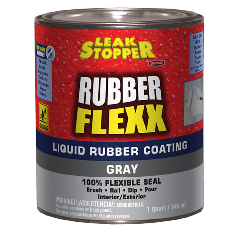 Leak Stopper 174 Rubber Flexx Liquid Rubber Coating Gray