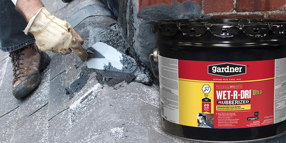 Gardner Wet-R-Dri Rubberized Roof Cement