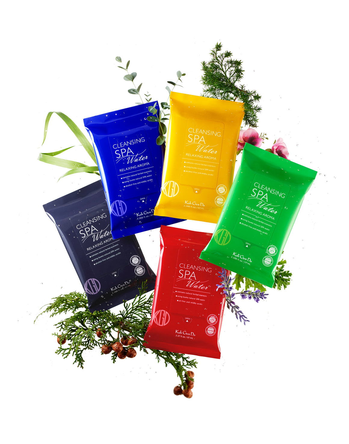 Spa Cleansing Water Cloths - Relaxing Aromas