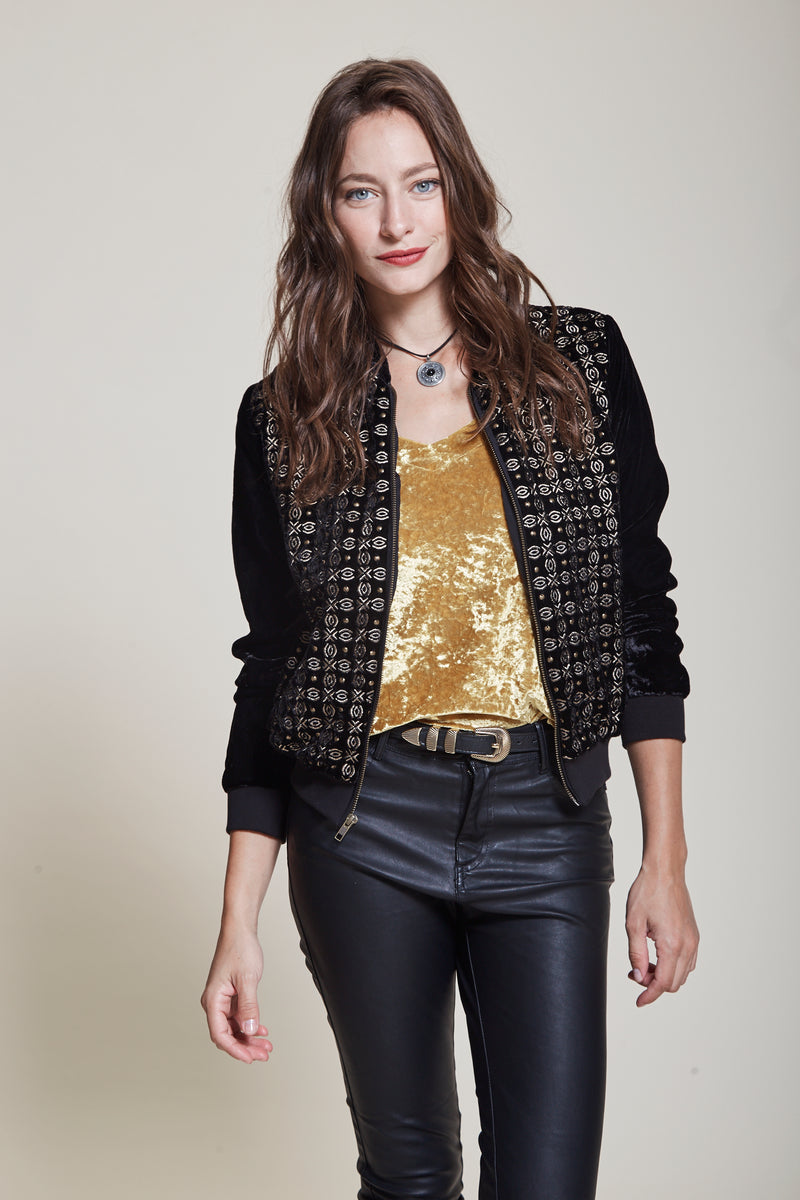 Campera Bomber Shine