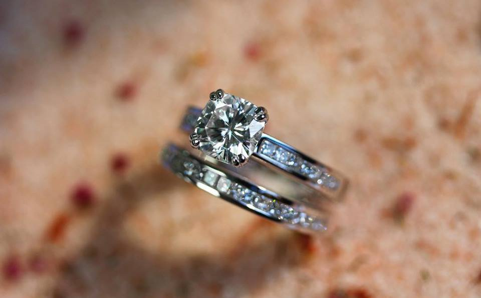 Cushion Diamond Bridal Set in Platinum