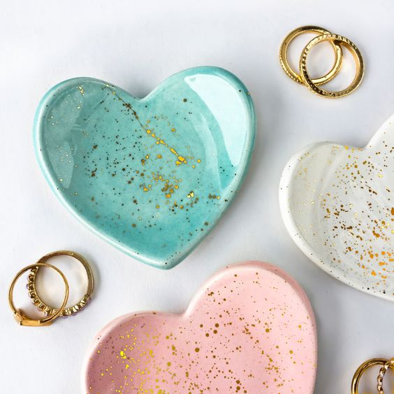 Heart-Shaped Ring Dishes