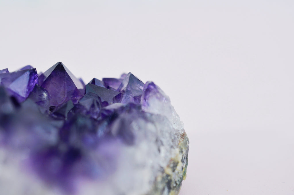 Rough, Uncut Purple Amethyst Gemstone